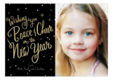 Peace And Cheer New Year Photo Card