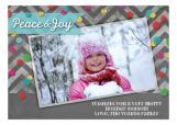 Peace And Joy Confetti Photo Card