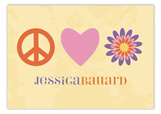 Peace Heart Flower Postcard