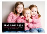 Peace, Love and Joy Photo Card