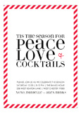 Peace, Love + Cocktails Invitation