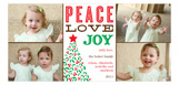Peace Love Joy Collage Photo Card