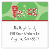 Peace On Earth Square Sticker