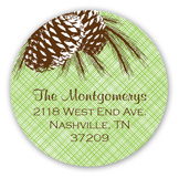 Peaceful Pine Cones Round Sticker