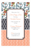 Peach Floral Duo Invitation