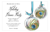 Peacock Baubles Invitation