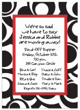Peacock Pattern Red Border Invitation