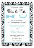 Pearls and Bow Ties Invitation