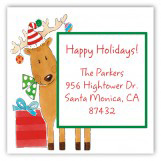 Peeping Reindeer Square Sticker