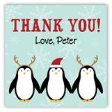 Penguin Birthday Square Sticker