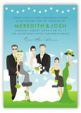 Perfect Day Wedding Party Invitation