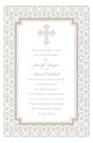Pewter Cross Iron Invitation