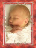 Rococo Red Photo Card