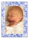 White Snow Photo Card