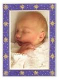 Indigo Galaxy Photo Card