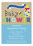 Baby Things Boy Baby Shower Invitation