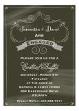 Chalkboard Engaged Banner Shower Invitation