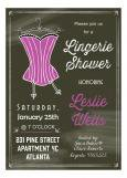 Chalkboard Corset Lingerie Shower Invitation