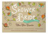 Fanciful Floral Wedding Shower Invitation