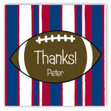 Pigskin Party Square Sticker