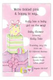 Pile of Presents Pink Invitation