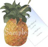Die-Cut Pineapple Hawaiian Luau Invitations