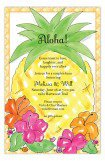 Aloha Pineapple Luau Invitations