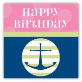 Pink Anchors Away Gift Tag