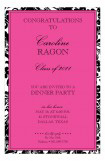 Pink and Black Damask Border Invitation