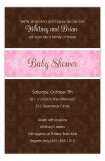 Pink and Brown Damask Invitation