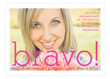 Pink and Gold Bravo Stripe Photo Card