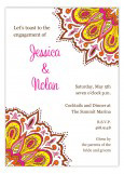 Pink and Orange Elaborate Pattern Invitation