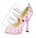 Pink and White Heels Invitation