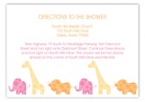 Pink Animal Monogram Enclosure Card