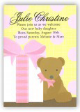 Pink Baby Bear Invitation