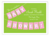 Pink Baby Shower Banner Invitation