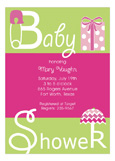 Pink Baby Shower Present Invitation