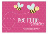 Pink Bee Mine Valentine Card