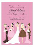 Pink Bella Bridesmaids Invitation