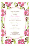 Pink Bells of Ireland Invitation