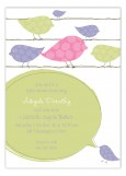 Pink Birds on a Wire Invitation