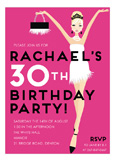 Pink Blonde Birthday Babe Invitation