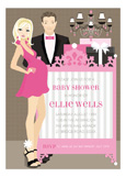 Pink Blonde Classic Crib Couple Invitation