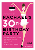 Pink Brunette Birthday Babe Invitation