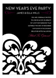 Pink B+W Flourish Invitation