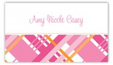 Pink Classic Plaid Calling Card
