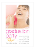 Pink Confetti Graduation Photo Card