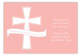 Pink Cross Banner Enclosure Card