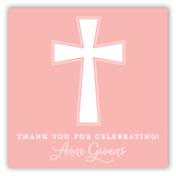 Pink Cross Banner Gift Tag