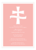 Pink Cross Banner Invitation